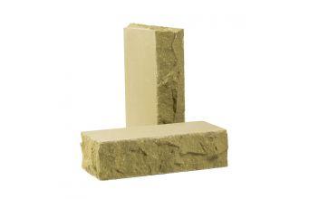 Лицевой кирпич Рубелэко Дикий камень тычковой полнотелый песчаник КСЛБ2