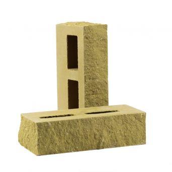 Кирпич фактурный пустотелый тычковый песчаник КСПТ2