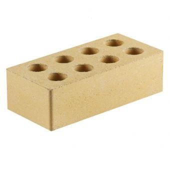 Кирпич Литос евро формат «Гладкий» пустотелый желтый