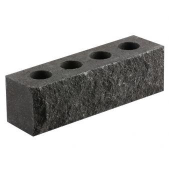 Кирпич Литос узкий «Скала» пустотелый черный