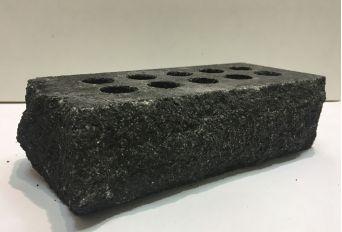 Кирпич Литос стандартный «Скала» тычковой пустотелый серый