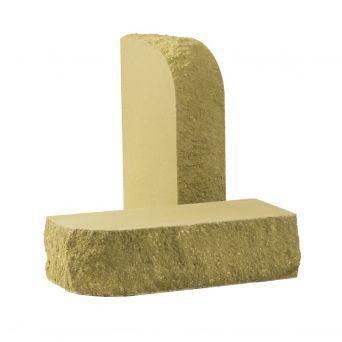 Кирпич фасонный скругленный песчаник КСЛТ-С2