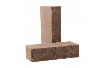 Лицевой кирпич Рубелэко Дикий камень полнотелый шоколад КСЛА5