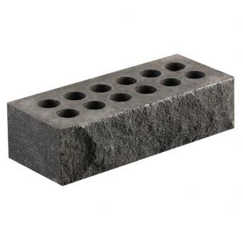 Кирпич Литос стандартный «Скала» пустотелый черный