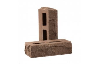 Лицевой кирпич Рубелэко Дикий камень пустотелый тычковой шоколад КСПБ5