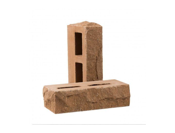 Лицевой кирпич скала Рубелэко Дикий камень пустотелый тычковой латте КСПБ3