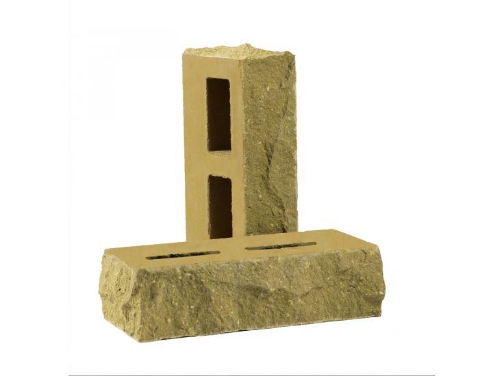 Лицевой кирпич Рубелэко Дикий камень пустотелый тычковой песчаник КСПБ2