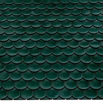 Керамическая черепица Braas опал бриллиантово-зеленый