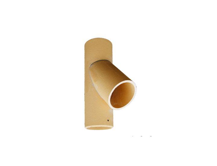 Соединительная керамическая труба для дымоходов HART (тройник)45˚, d200