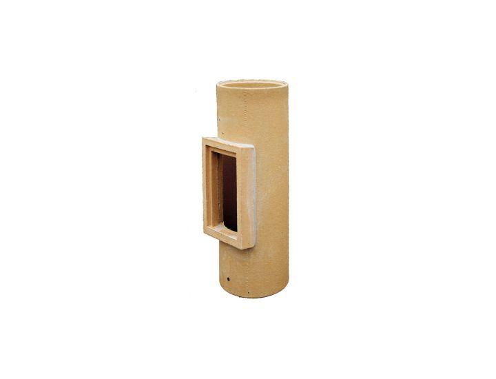 Керамическая труба для дымоходов с очистным отверстием HART d160