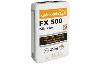 Клей для фасадной клинкерной плитки quick-mix FX 500 Klinkier