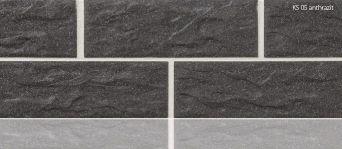 Плитка клинкерная цокольная Stroeher KS 05 antrazit