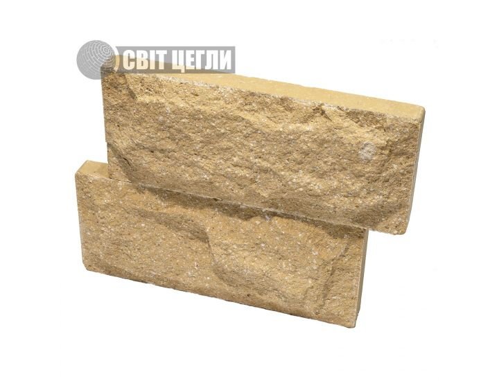 Цокольная плитка скала Євроцегла слоновая кость