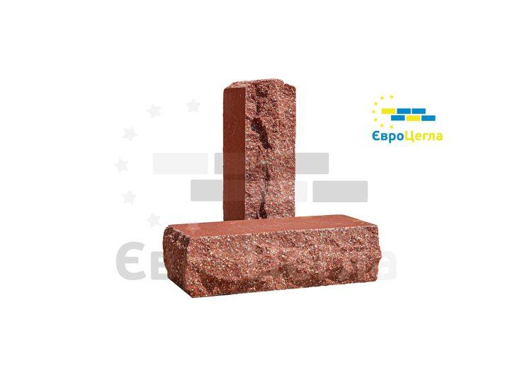 Облицовочный гиперпрессованый кирпич скала Євроцегла красный тычковой