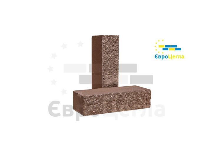 Облицовочный колотый кирпич Євроцегла коричневый