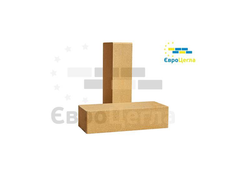 Облицовочный гладкий гиперпрессованый кирпич Євроцегла желтый