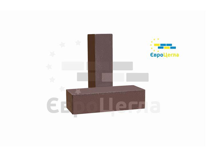Облицовочный гладкий гиперпрессованый кирпич Євроцегла шоколад