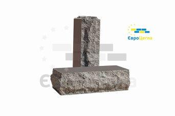Облицовочный кирпич скала Євроцегла тычковой графит