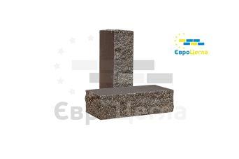 Облицовочный колотый кирпич тычковой Євроцегла графит