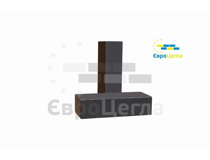 Облицовочный гладкий гиперпрессованый кирпич Євроцегла черный