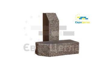 Облицовочный колотый кирпич Євроцегла графит углово-тычковой