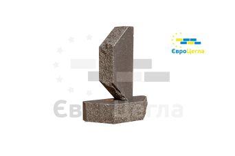 Облицовочный колотый  кирпич Євроцегла графит двухугловой