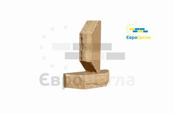 """Облицовочный кирпич Євроцегла """"колотый"""" желтый двухугловой"""