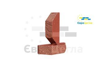 Облицовочный колотый кирпич Євроцегла красный двухугловой