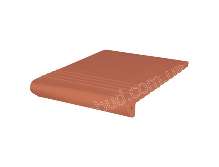 Клинкерные ступени King Klinker Античные рифленые (01) Красные
