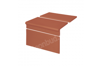 Клинкерные ступени King Klinker Римский комплект рифленый (01) Красный