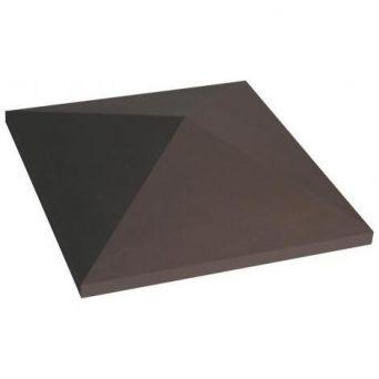 Крышка для забора керамическая King Klinker (03) Коричневая остроугольная