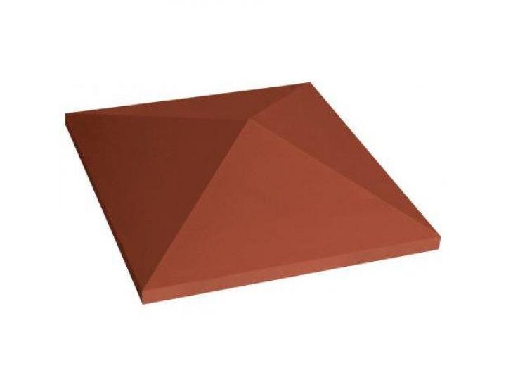 Крышка для забора керамическая King Klinker (01) Красная остроугольная