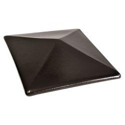 Крышка для забора керамическая King Klinker (17) Ониксовая черная