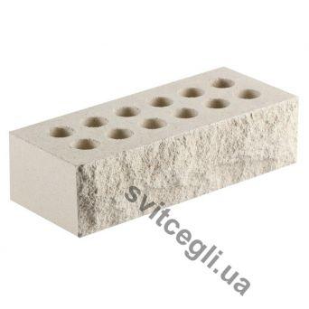 Кирпич Литос стандартный «Скала» пустотелый белый