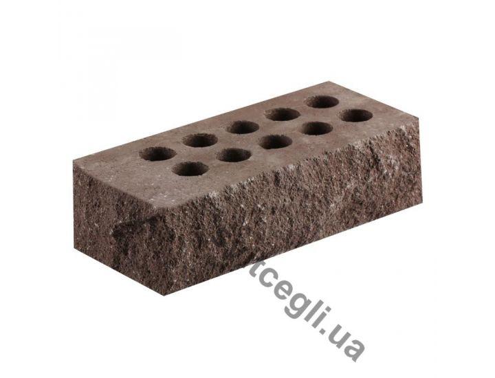 Кирпич Литос стандартный «Скала» тычковой пустотелый шоколад