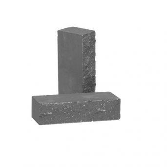 Лицевой кирпич Рубелэко Дикий камень полнотелый графит КСЛА6