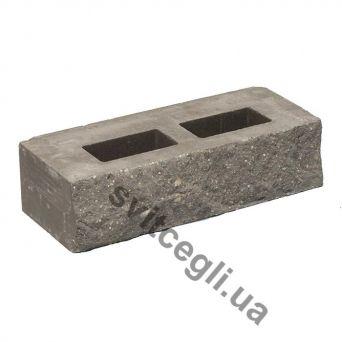 Лицевой кирпич Рубелэко Дикий камень пустотелый графит КСПА6