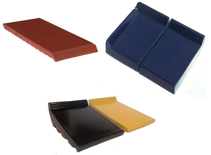 Клинкерные подоконники, фиолетовый клинкер, желтый клинкер, красный клинкер